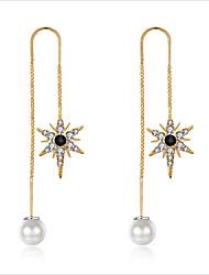 cheap -Women's Cubic Zirconia / Pearl Hoop Earrings - Pearl, Zircon Princess European, Korean Gold / Silver For Wedding / Daily