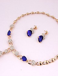 cheap -Women's Jewelry Set - Gold Plated Classic, Fashion Include Bridal Jewelry Sets Blue For Wedding / Evening Party