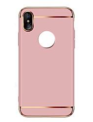 Недорогие -Кейс для Назначение Apple iPhone X iPhone 8 Plus Ультратонкий Кейс на заднюю панель Сплошной цвет Твердый ПК для iPhone X iPhone 8 Pluss