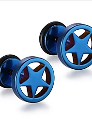 abordables -Hombre Geométrico Pendientes cortos - Acero inoxidable Punk, Moda Plata / Arco Iris / Azul Para Regalo / Diario