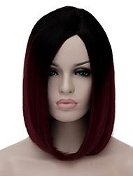 Недорогие -Парики из искусственных волос плотность Без шапочки-основы Жен. Красный Карнавальный парик Парик для Хэллоуина монолитным парики Короткие