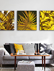cheap -Stretched Canvas Prints Modern, Three Panels Canvas Square Print Wall Decor Home Decoration