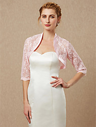 cheap -Half Sleeves Lace Wedding Party / Evening Women's Wrap With Lace Shrugs
