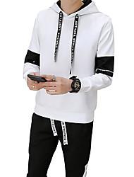 Pánské Jednobarevné Na běžné nošení Šik ven Activewear Set Standardní, Denní Sport Dlouhý rukáv Kapuce Jaro Podzim