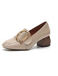 preiswerte -Damen Schuhe PU Herbst Pumps High Heels Stöckelabsatz Spitze Zehe Schleife für Normal Kleid Schwarz Braun Rosa