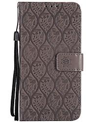 Недорогие -Кейс для Назначение Sony Xperia XZ Xperia XA1 Бумажник для карт Кошелек со стендом Флип С узором Чехол Сплошной цвет Кружева Печать