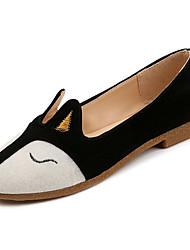 preiswerte -Damen Schuhe Gummi Frühling Herbst Komfort Flache Schuhe Flacher Absatz für Draussen Schwarz Grau Grün