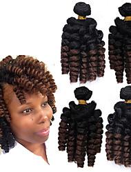 cheap -100% kanekalon fiber synthetic saniya curly weaving bouncy curl bundles 18inch 4bundles/pack synthetic bounce afro kinky curly weft