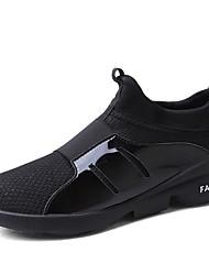 baratos -Homens sapatos Malha Respirável Primavera Outono Conforto Tênis Corrida para Atlético Preto Cinzento Vermelho