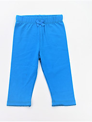 cheap -Girls' Daily Sports Solid Pants, Cotton Spring Summer Simple Casual Blue Orange