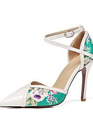 preiswerte -Damen Schuhe PU Lackleder Frühling Sommer Pumps D'Orsay und Zweiteiler High Heels Stöckelabsatz Spitze Zehe Schnalle für Büro & Karriere