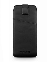 baratos -Capinha Para OPPO R9s Plus R9s Porta-Cartão Antichoque Bolsa Côr Sólida Macia couro legítimo para OPPO R9