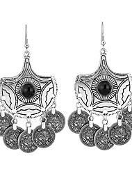 cheap -Women's Oversized Synthetic Tanzanite Drop Earrings - Vintage / Oversized Silver Circle / Geometric Earrings For Prom / Street