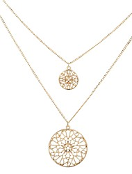 cheap -Women's Layered Pendant Necklace / Layered Necklace  -  Fashion, Multi Layer Gold Necklace N / A For Gift, Daily
