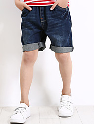 cheap -Boys' Daily Holiday Solid Colored Shorts, Cotton Polyester Spandex Summer Simple Blue