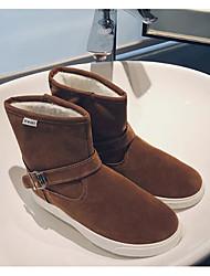 baratos -Homens sapatos Courino Inverno Outono Botas de Neve Conforto Botas para Casual Preto Azul Escuro Khaki