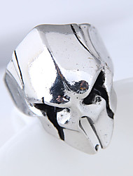 cheap -Men's Band Ring - Skull Vintage, European, Fashion Adjustable Silver For Daily