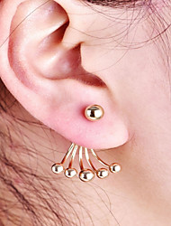 cheap -Women's Stud Earrings / Front Back Earrings / Ear Jacket - Ball Simple, Fashion Gold For Daily / Work