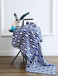 Недорогие -Трикотаж, Активный краситель Геометрический принт Хлопок одеяла