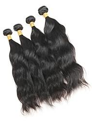 economico -4 pacchi Malese Onda naturale Capello integro Ciocche a onde capelli veri Tessiture capelli umani Estensioni dei capelli umani