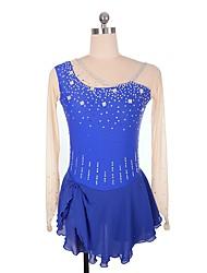 baratos -Vestidos para Patinação Artística Mulheres / Para Meninas Patinação no Gelo Vestidos Azul Real Elastano strenchy Profissional Roupa para
