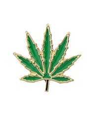 cheap -Women's Leaf / Moon / Tree of Life Brooches - Basic / Fashion Yellow / Green / Leaf Brooch For Daily / Date
