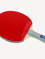 abordables -DHS® R5002-R5003 Ping Pang/Tennis de table Raquettes Bois Caoutchouc 5 étoiles Long Manche Boutons