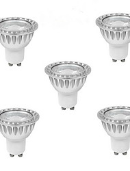 abordables -5pcs 5W 400-500 lm GU10 Focos LED 1 leds COB Blanco Cálido Blanco Fresco Blanco Natural 85-265V
