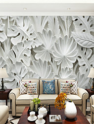 cheap -Trees/Leaves Art Deco 3D Home Decoration Classic Modern Wall Covering, Canvas Material Adhesive required Mural, Room Wallcovering