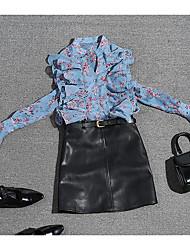 preiswerte -Damen Bluse - Blumen Ständer Rock
