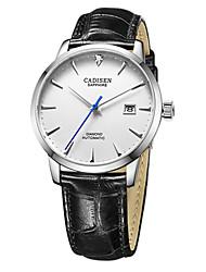 Недорогие -CADISEN Муж. С автоподзаводом Нарядные часы Модные часы Японский Календарь Защита от влаги Повседневные часы Натуральная кожа Группа