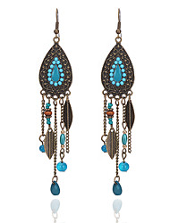 cheap -Women's Drop Synthetic Tanzanite Drop Earrings - Vintage / Fashion Black / Red / Blue Line Earrings For Prom / Going out
