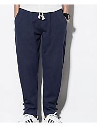 abordables -Hombre Deportivo Pantalones Harén Pantalones - Un Color