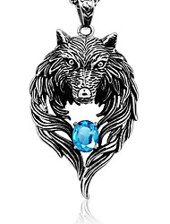 cheap -Men's Pendant - Wolf Rock, Gothic Pendant Silver For Daily / Street