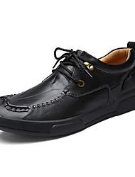 povoljno -Muškarci Cipele Koža Proljeće Jesen Udobne cipele Oksfordice za Kauzalni Crn Svjetlosmeđ Burgundac