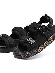 abordables -Garçon Chaussures Polyuréthane Eté Confort Sandales pour Noir et Or / Noir / blanc / Noir / Rouge