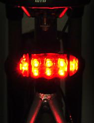 abordables -Lampe Arrière de Vélo LED LED Cyclisme Ajustable Imperméable Largage rapide Transport Facile AA 15lm Lumens Piles AA alimentées Rouge