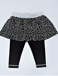 cheap -Girls' Daily Print Color Block Pants, Cotton Spring Summer Cute Active Black