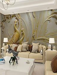 Недорогие -Ар деко Рисунок 3D Украшение дома Винтаж Modern Облицовка стен, холст материал Клей требуется фреска, Обои для дома