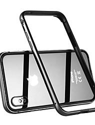 Недорогие -Benks Кейс для Назначение Apple iPhone X Защита от удара Бампер Сплошной цвет Твердый Металл для iPhone X