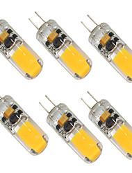 baratos -6pcs 2W 280-350lm G4 Luminárias de LED  Duplo-Pin T 1 Contas LED COB Branco Quente Branco Frio 12-24V