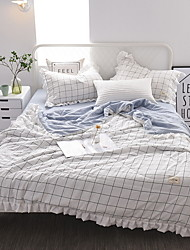 cheap -Comfortable Poly / Cotton Blend Poly / Cotton Blend Reactive Print 300 Tc Plaid/Checkered