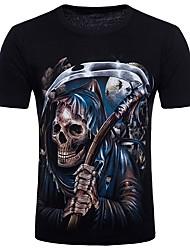 preiswerte -Männerclub Punk&Gothic-Baumwoll-Polyester-T-Shirt mit Rundhalsausschnitt