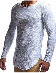 cheap -Men's Sports Street chic Cotton Slim T-shirt - Solid Colored Round Neck / Long Sleeve / Long