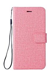 Недорогие -Кейс для Назначение Huawei P9 Lite P8 Lite (2017) Бумажник для карт Кошелек со стендом Флип Чехол Сплошной цвет Твердый Кожа PU для