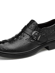 cheap -Men's Shoes Nappa Leather Spring Fall Comfort Oxfords Upstream Shoes for Casual Party & Evening Black