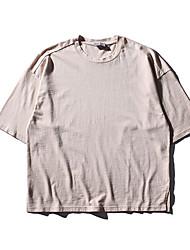 Homens Camiseta Básico, Sólido