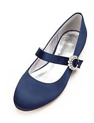 cheap -Women's Shoes Satin Spring / Summer Comfort / Ballerina / Mary Jane Wedding Shoes Flat Heel Rhinestone / Sparkling Glitter / Ribbon Tie