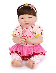 abordables -NPK DOLL Muñecas reborn Bebés Niñas 14 pulgada Silicona / Vinilo - natural, Pestañas aplicadas a mano, Clavos inclinados y sellados Kid de Unisex Regalo / Tono de piel natural / Cabeza de disquete