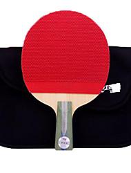 abordables -DHS® R5006 Ping Pang/Tennis de table Raquettes Bois Caoutchouc 5 étoiles Manche Court Boutons